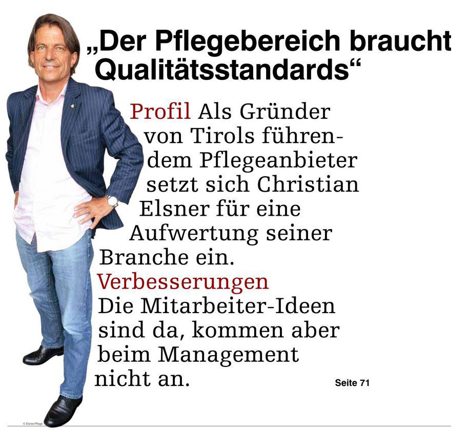 Kurze Artikelvorschau in der Medianet zum Profil von Christian Elsner.