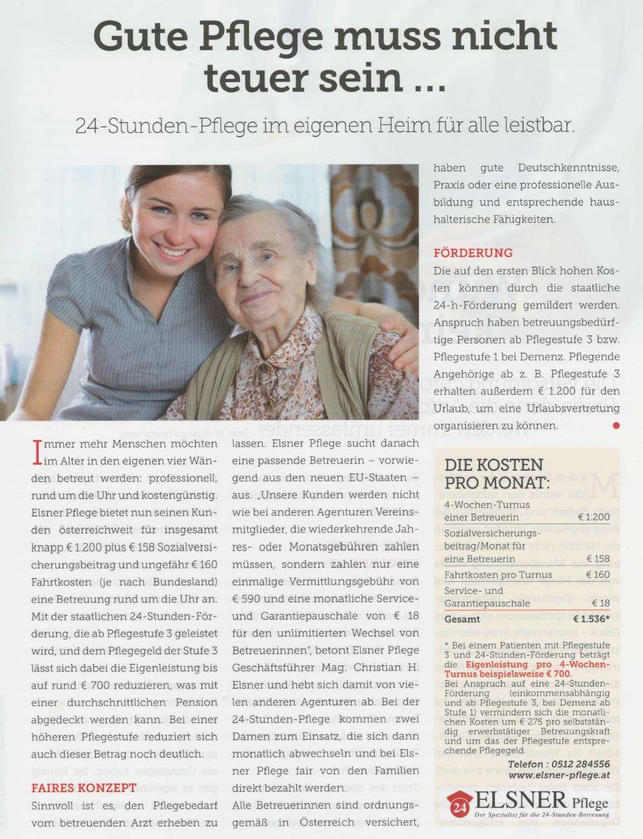 Artikel zur Elsner 24-Stunden-Pflege in