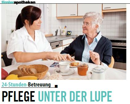 Artikel über Elsner 24-Stunden-Betreuung im Weekend Magazin.