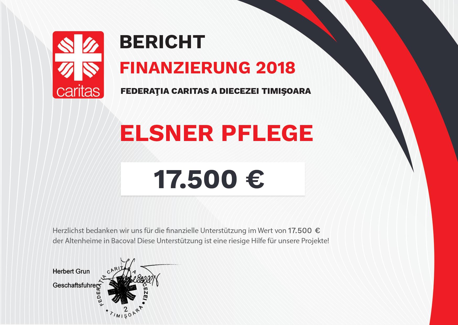 Caritas Bericht Finanzierung 2018 Elsner Pflege