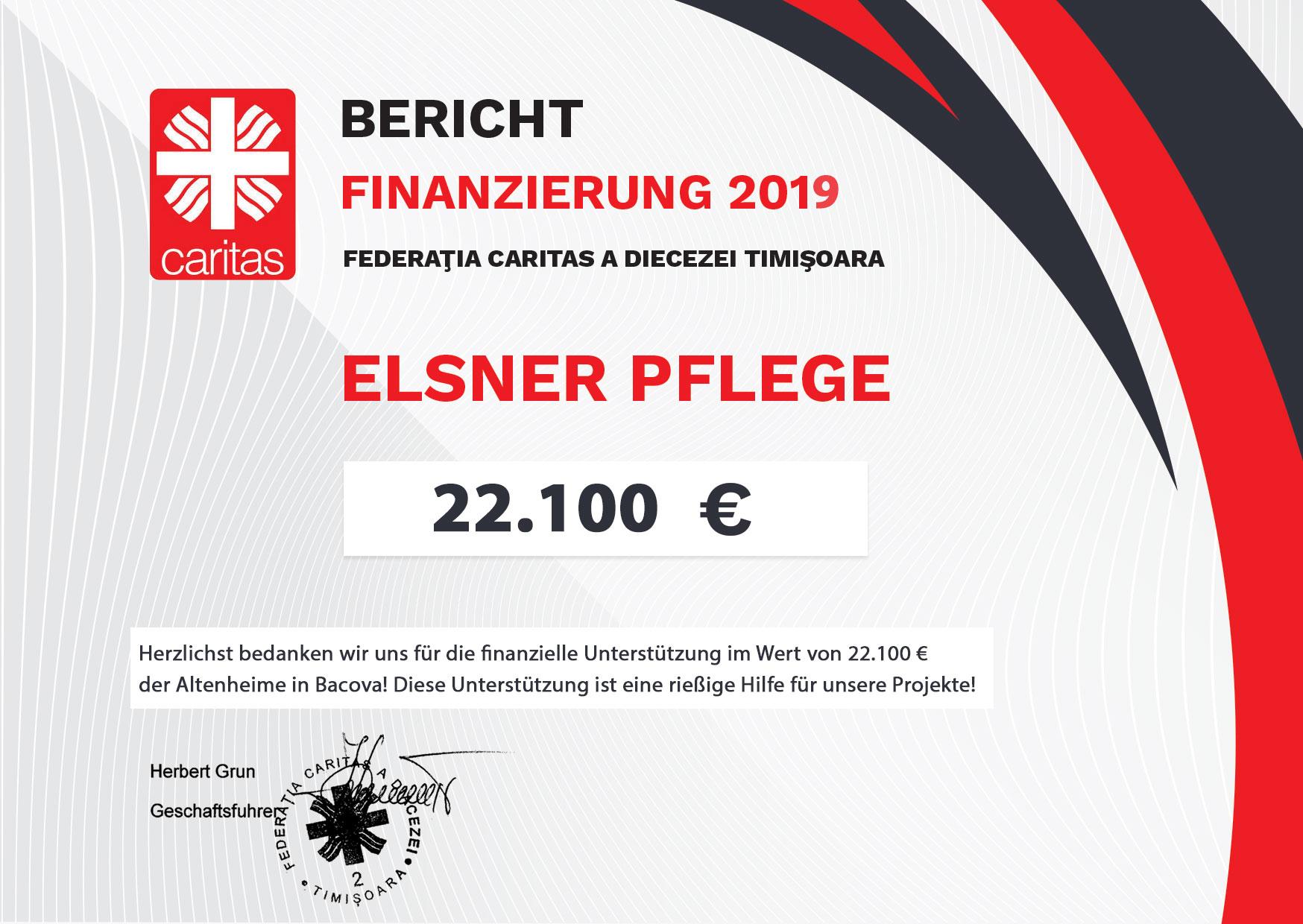 Caritas Bericht Finanzierung 2019 Elsner Pflege